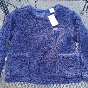 NWT Size 4 Baby Gap Navy plush sweater